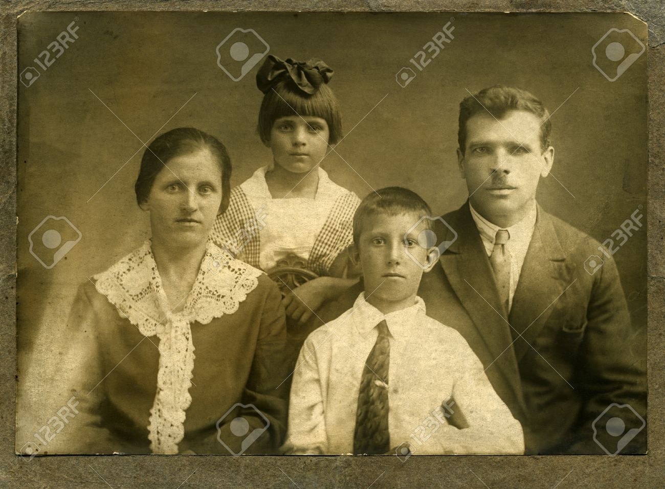 ビンテージの肖像画、1914 年、...