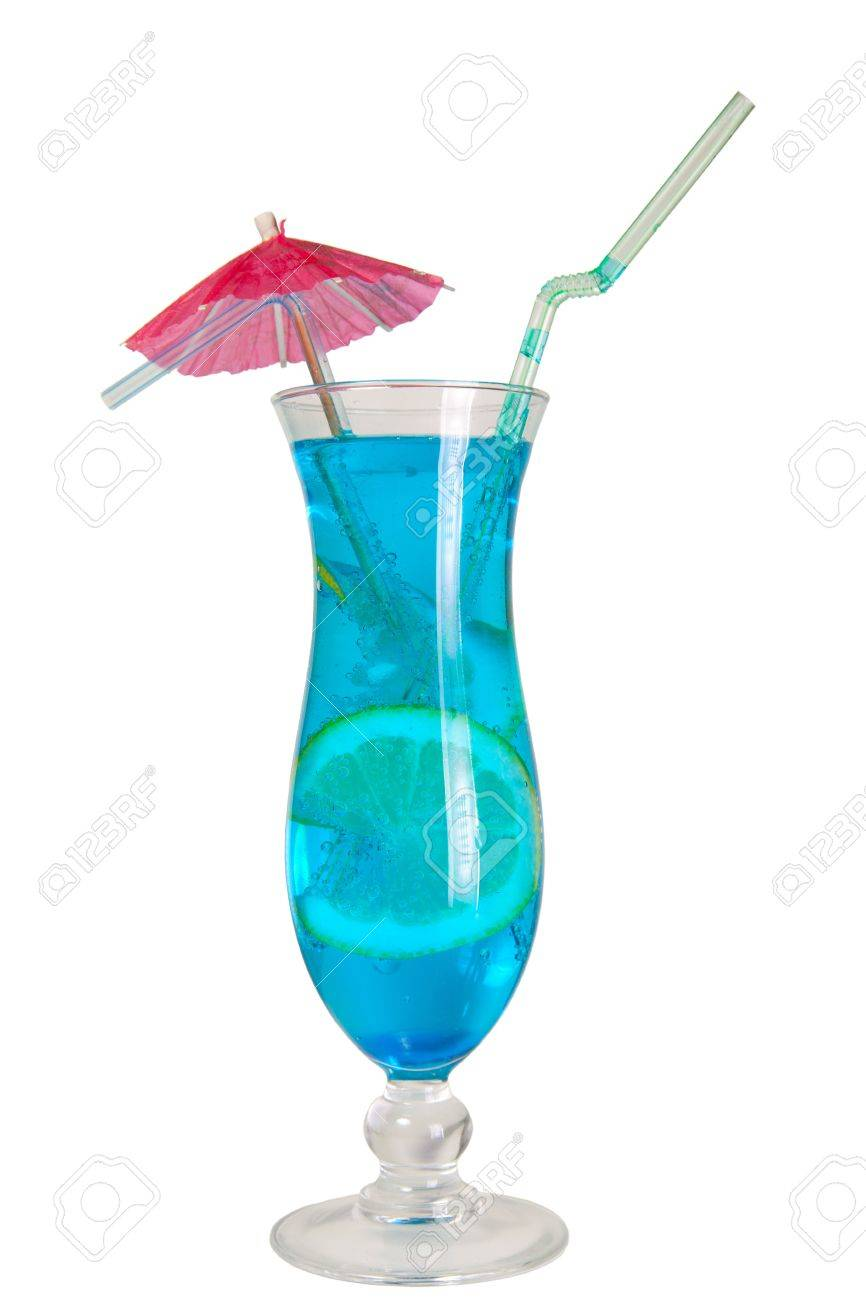 Blue lagoon cocktail  Blue Lagoon Cocktail Isolated Royalty Free Stok Fotoğraf, Resimler ...