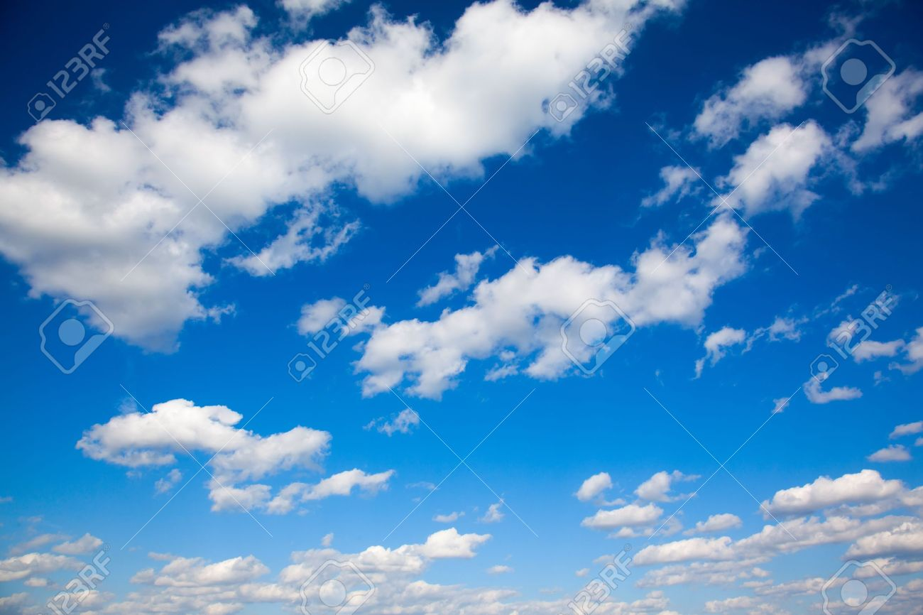 a bright blue sky with light clouds Stock Photo - 14216345