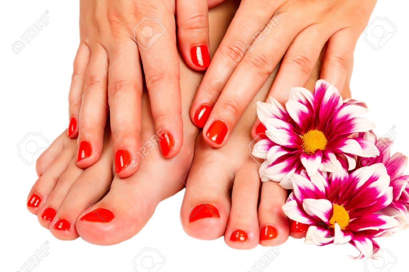 manucure pied femme