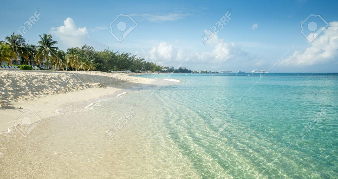 seven mile beach on grand cayman island cayman islands stock photo