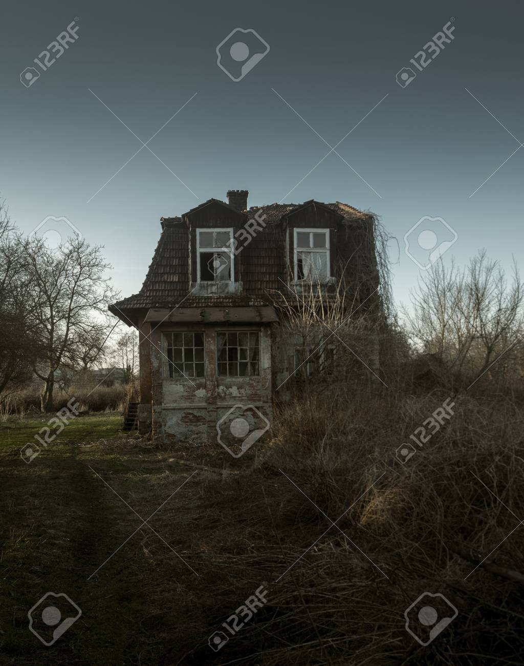 Creepy And Scary Abandoned House Stock Photo Picture And Royalty Free Image Image 88220038