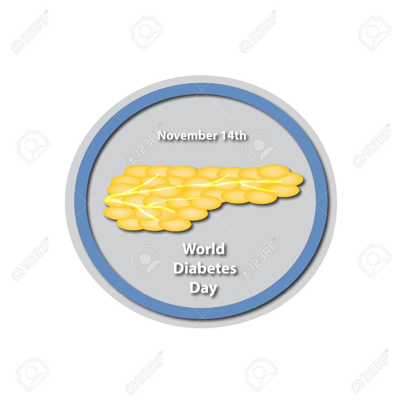 Día Mundial De La Diabetes - 14 De Noviembre De Páncreas. Baner ...