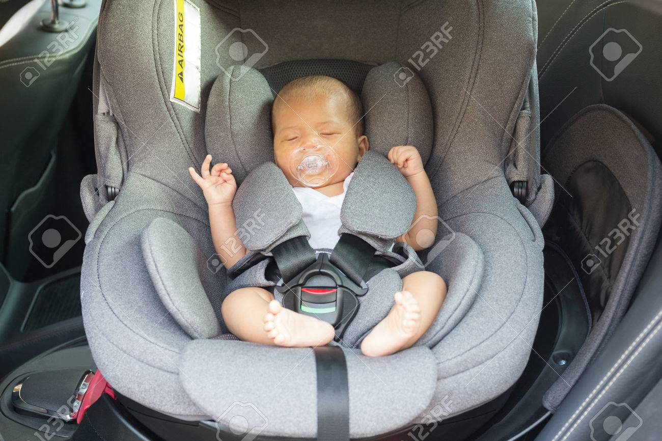 Asian Cute Newborn Baby Sleeping In Modern Car Seat Child New Stock Photo Picture And Royalty Free Image Image 65804422