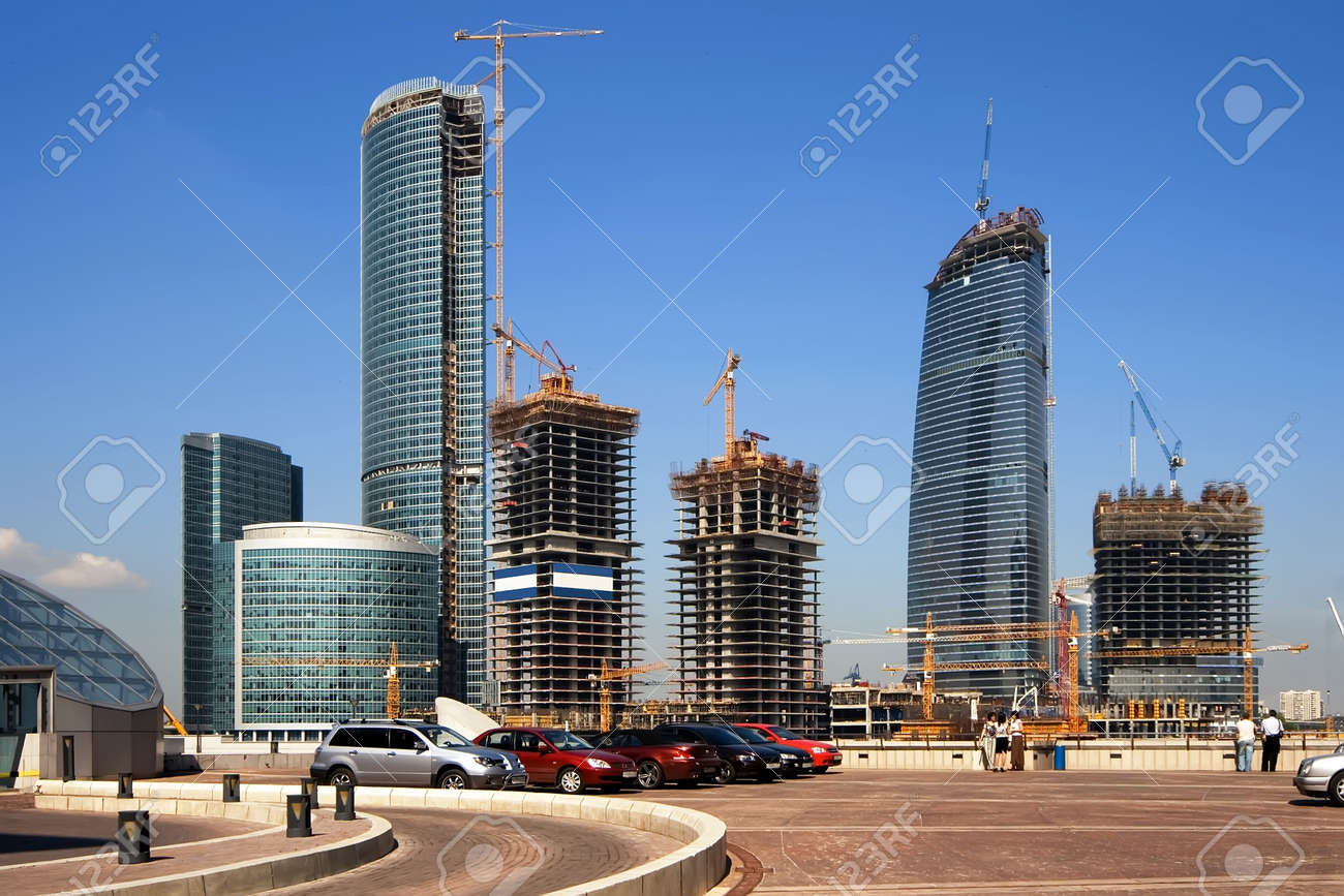 Construction of a new modern business centre in Moscow (Russia) Stock Photo - 1268147