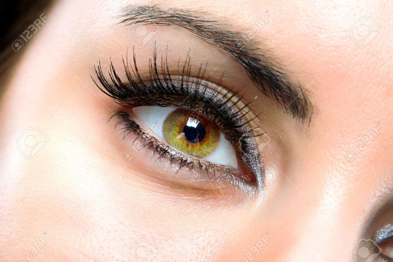 The macro beautiful female eye Stock Photo - 3200195