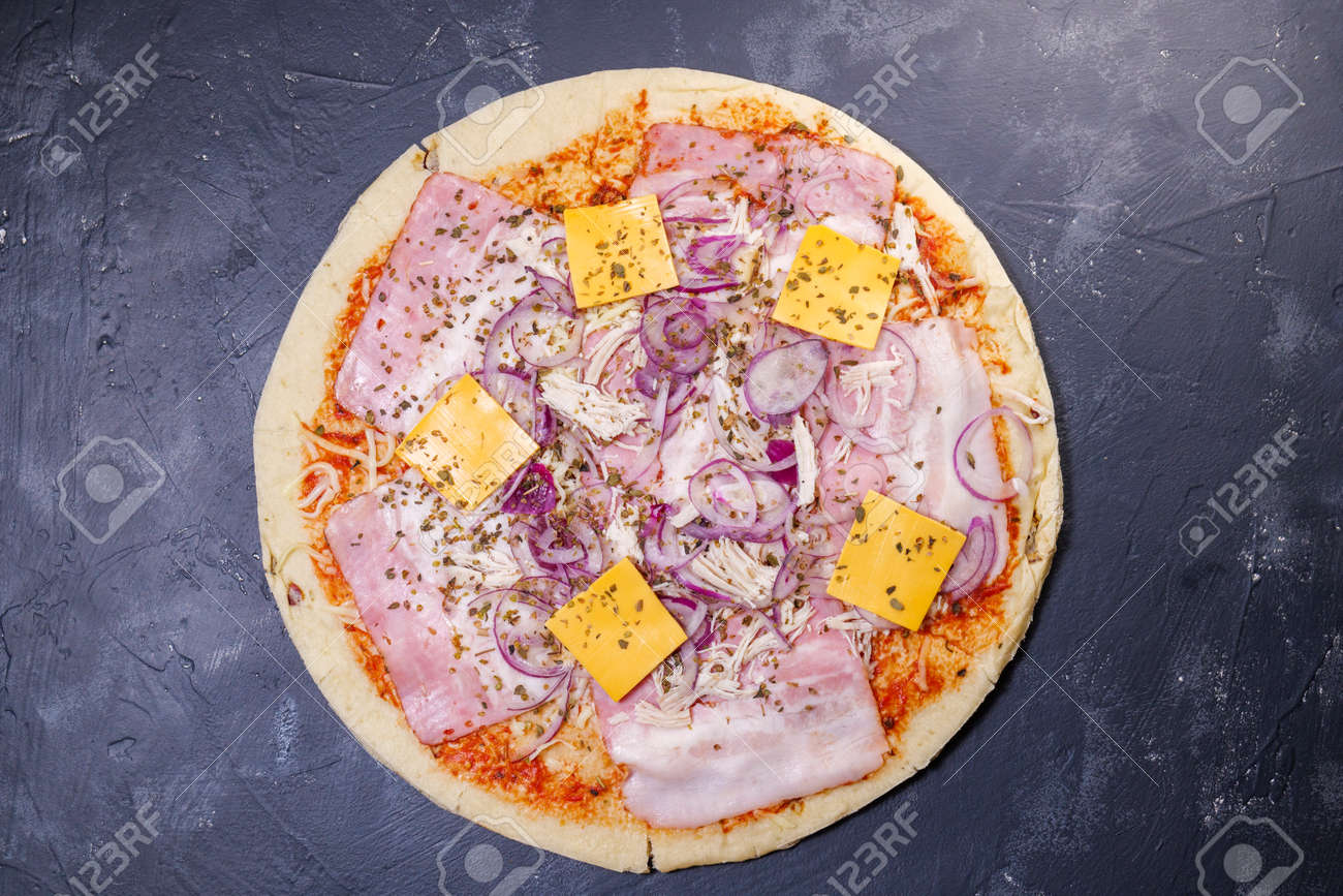 pizza close-up on the table - 170496980