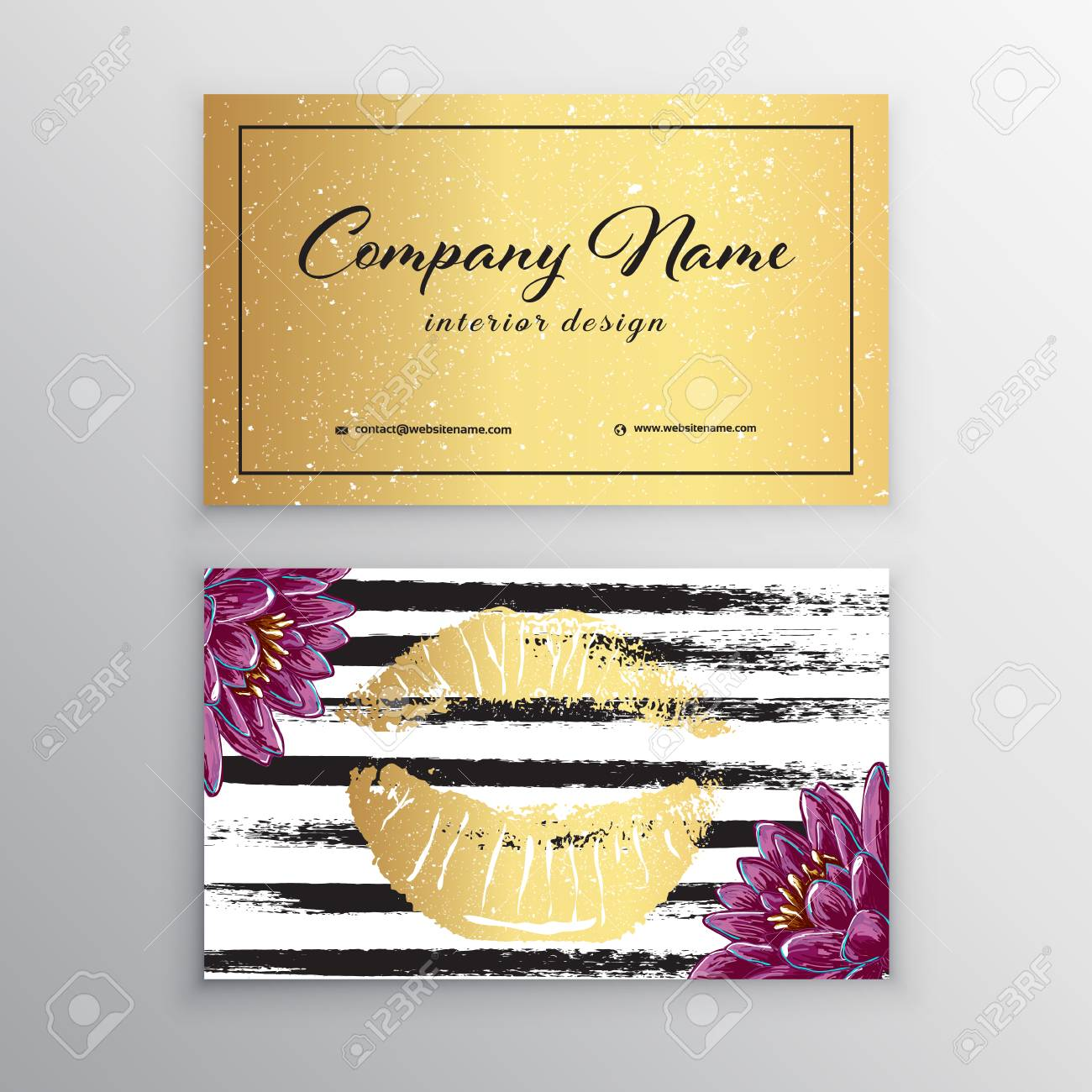 Makeup artist business card business cards template with pink makeup artist business card business cards template with pink lips print stock vector wajeb Gallery