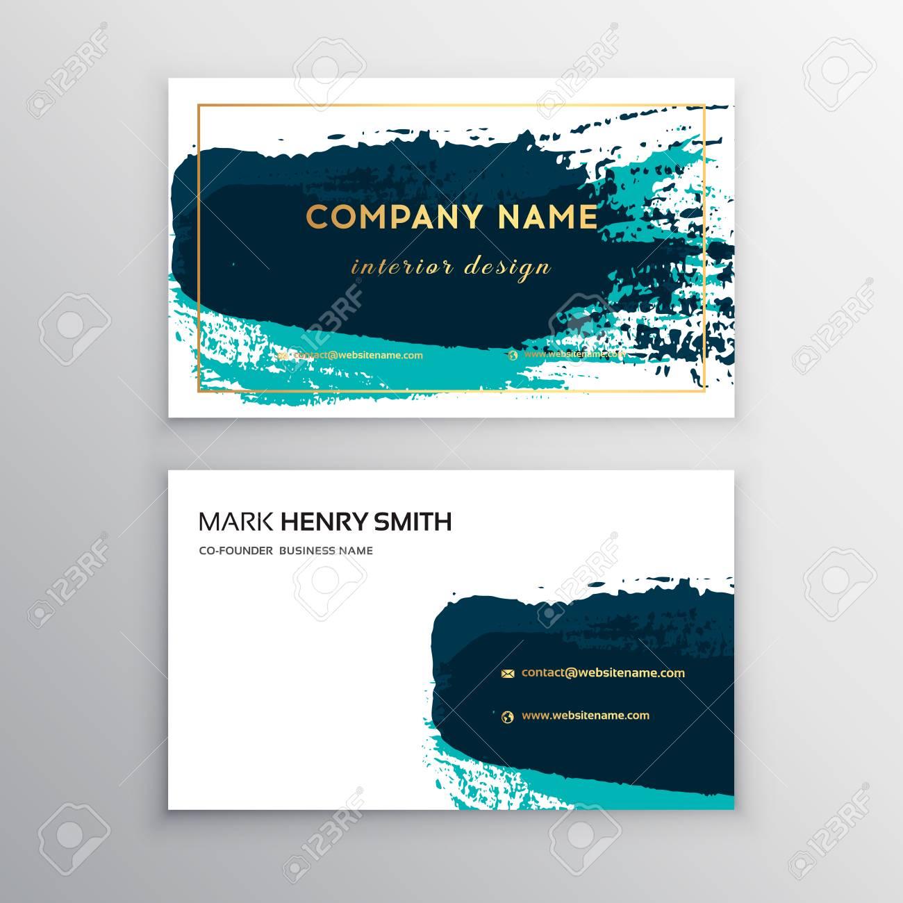Vector Business Card Luxury DesignVector Modern