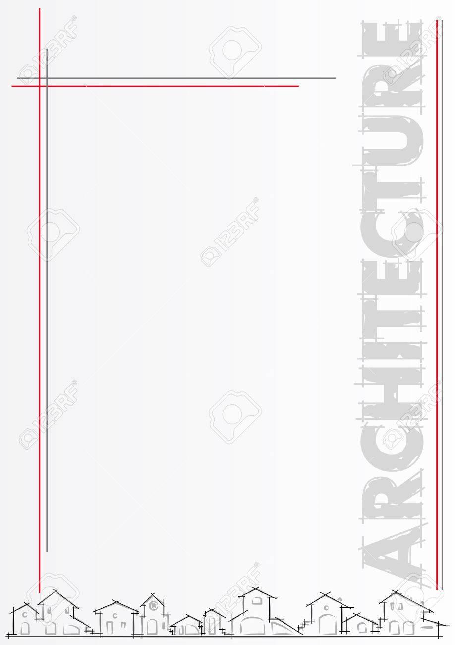 Broschüre Für Architektur, Bau-Unternehmen. Vorlage, Editable Vector ...