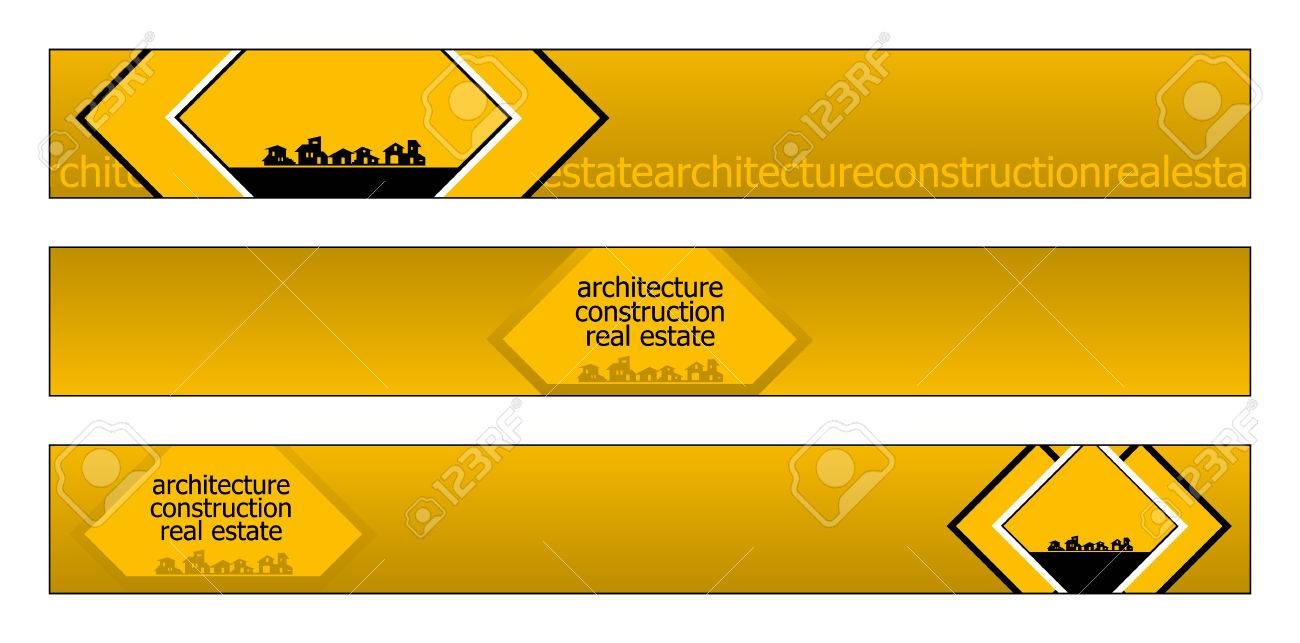 Web banner, business card, label or insignia for real estate, architecture, construction company Stock Vector - 4737791