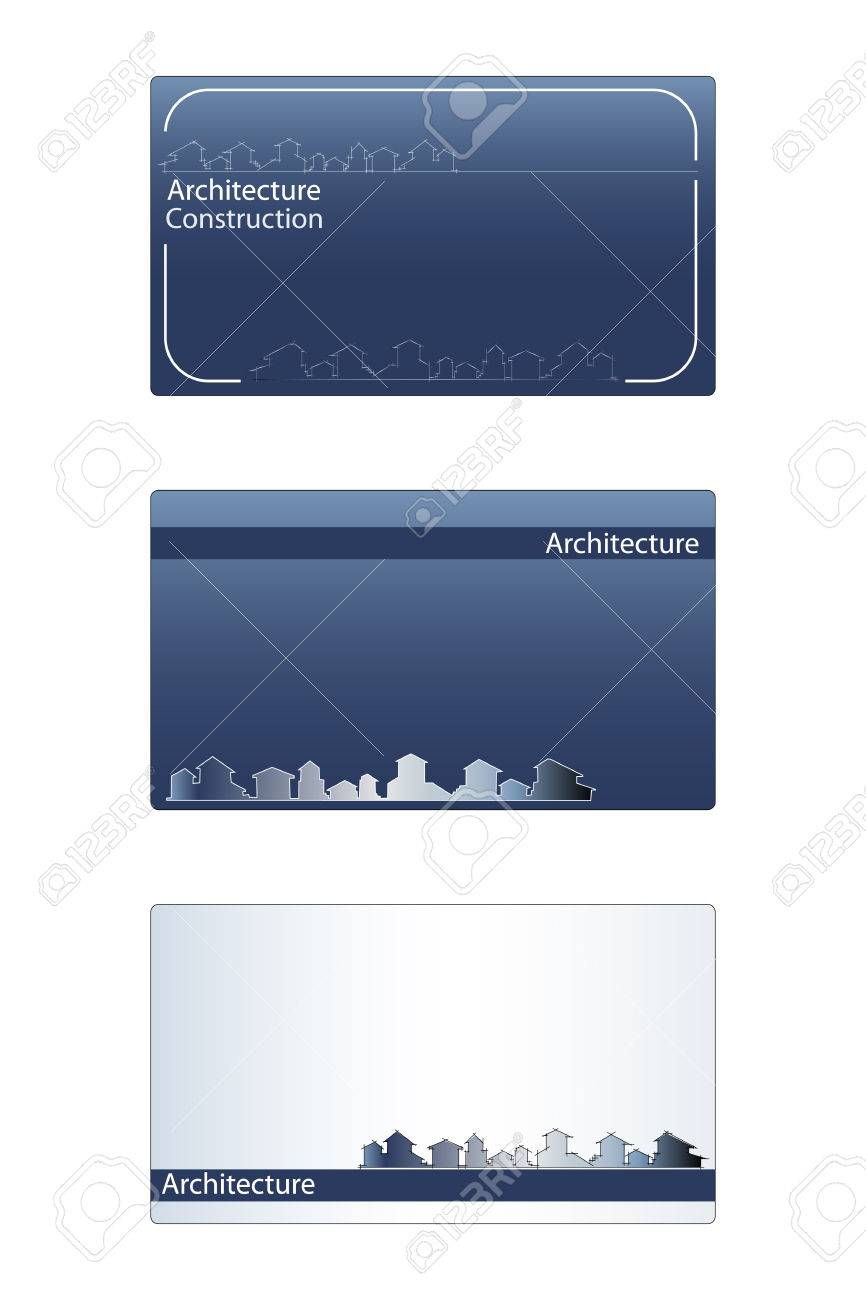 Business card for real estate architecture construction business business card for real estate architecture construction business labels useful stock vector reheart Gallery