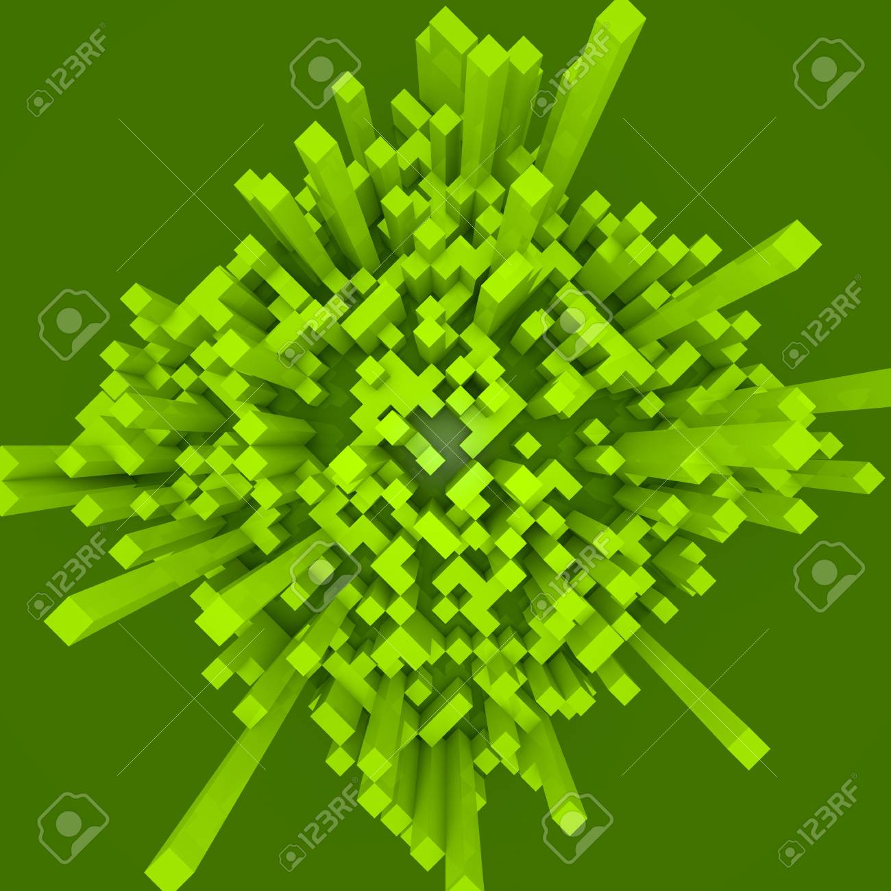 Abstract background with 3d cubes Stock Photo - 12819538
