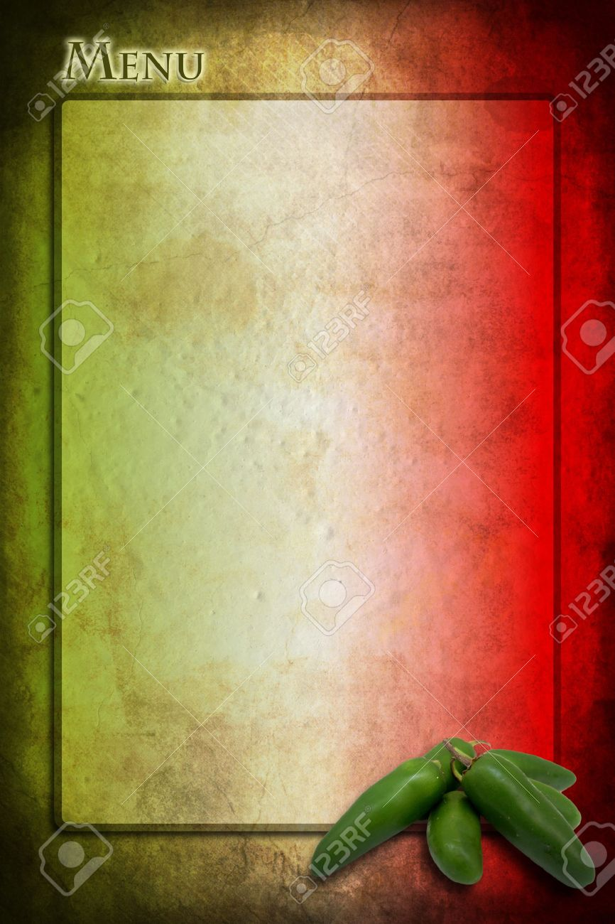 tipycal mexican food: green jalapeno on mexico flag stock photo