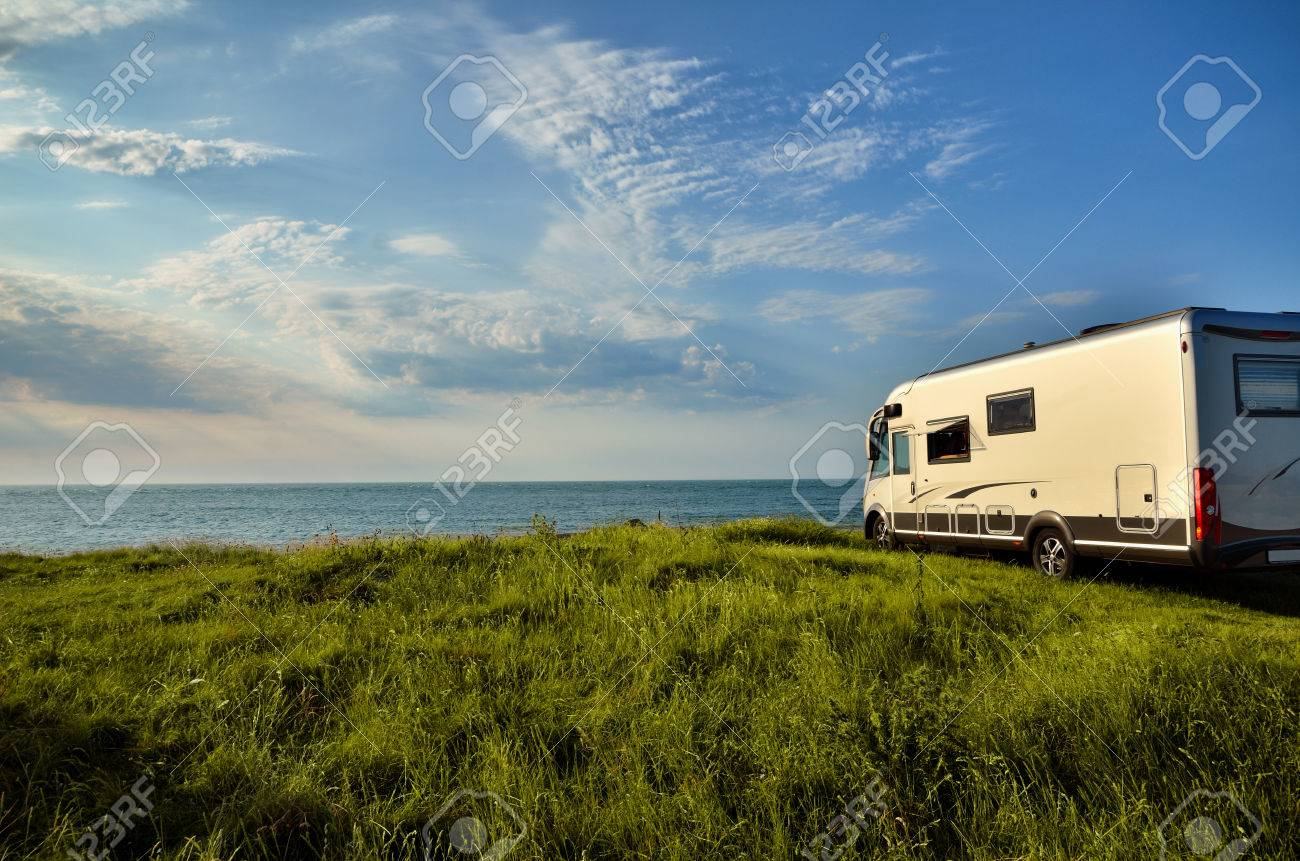 Recreational vehicle with sea view, freedom concept - 51355091