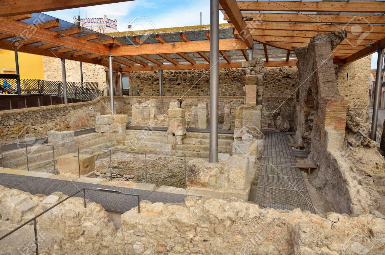 Preserved Roman Baths In The Thermal Village Of Caldes De Malavella ...