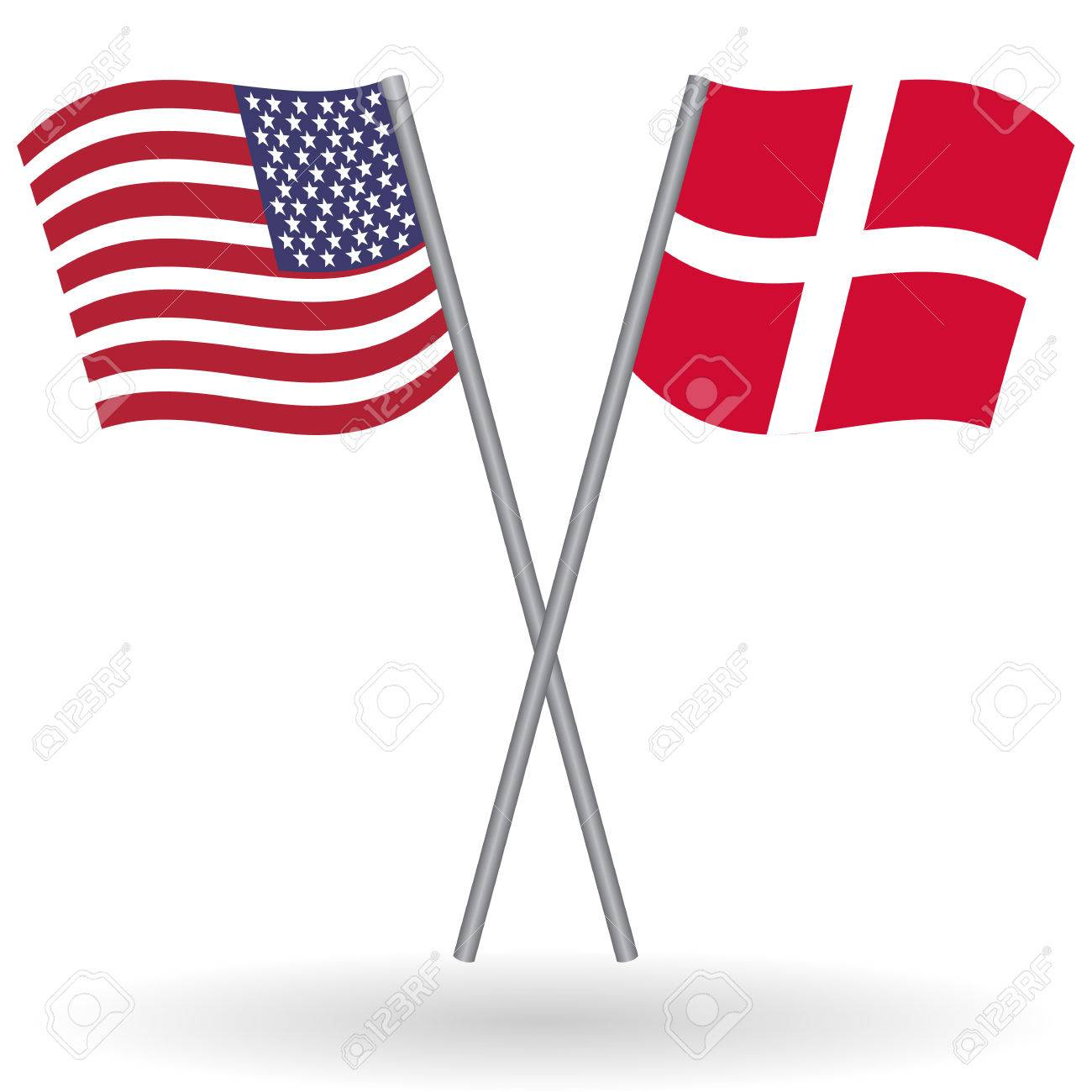 American And Danish Flags This Flags Represents The Relationship - Denmark flags