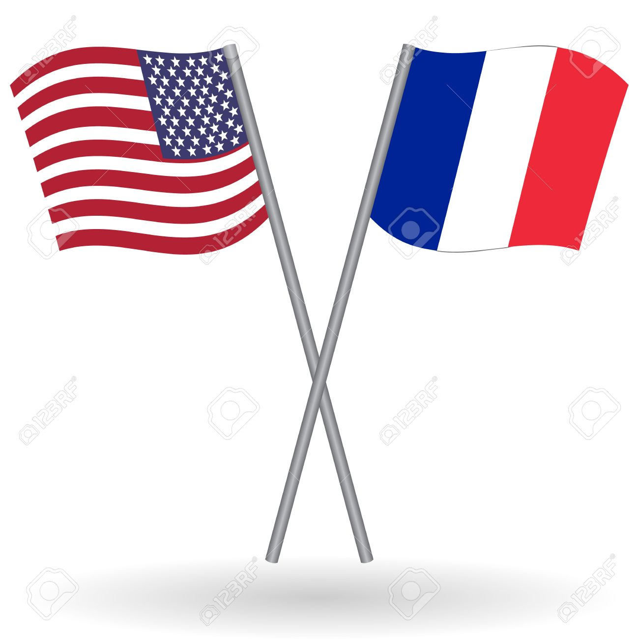 american and french flags this flags represents the relationship