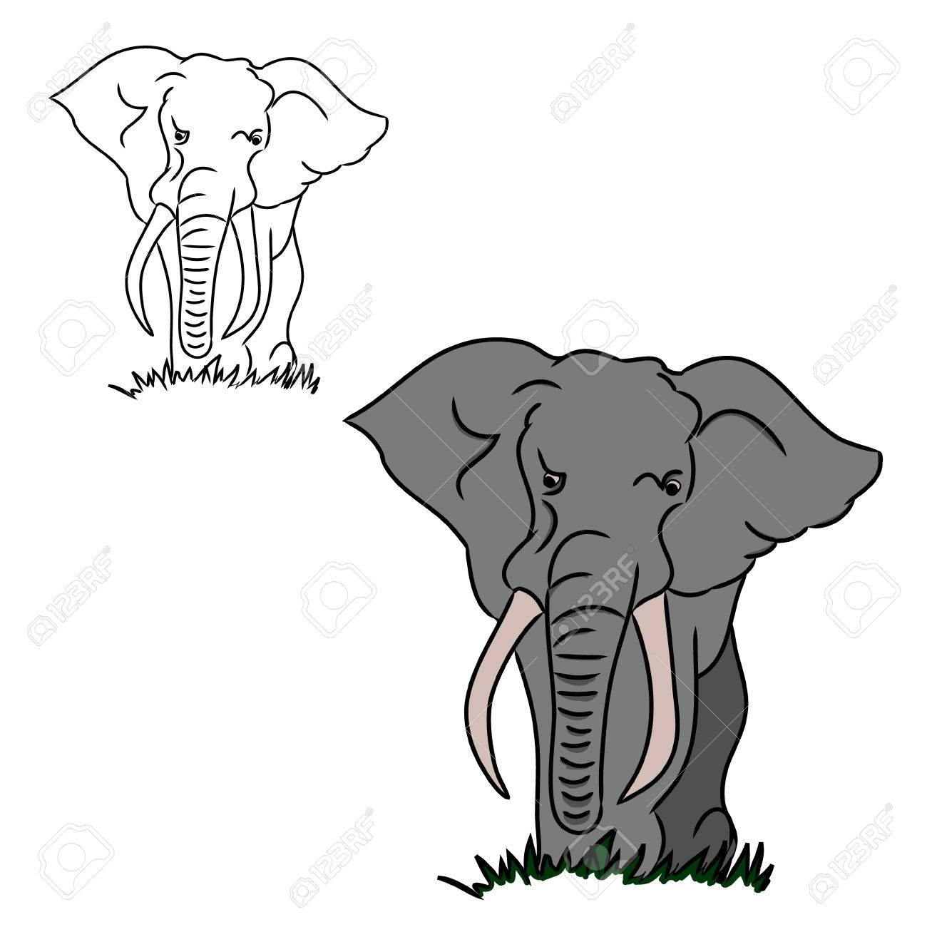 Two Circuits In The Form Of An Elephant. One Large Elephant ...