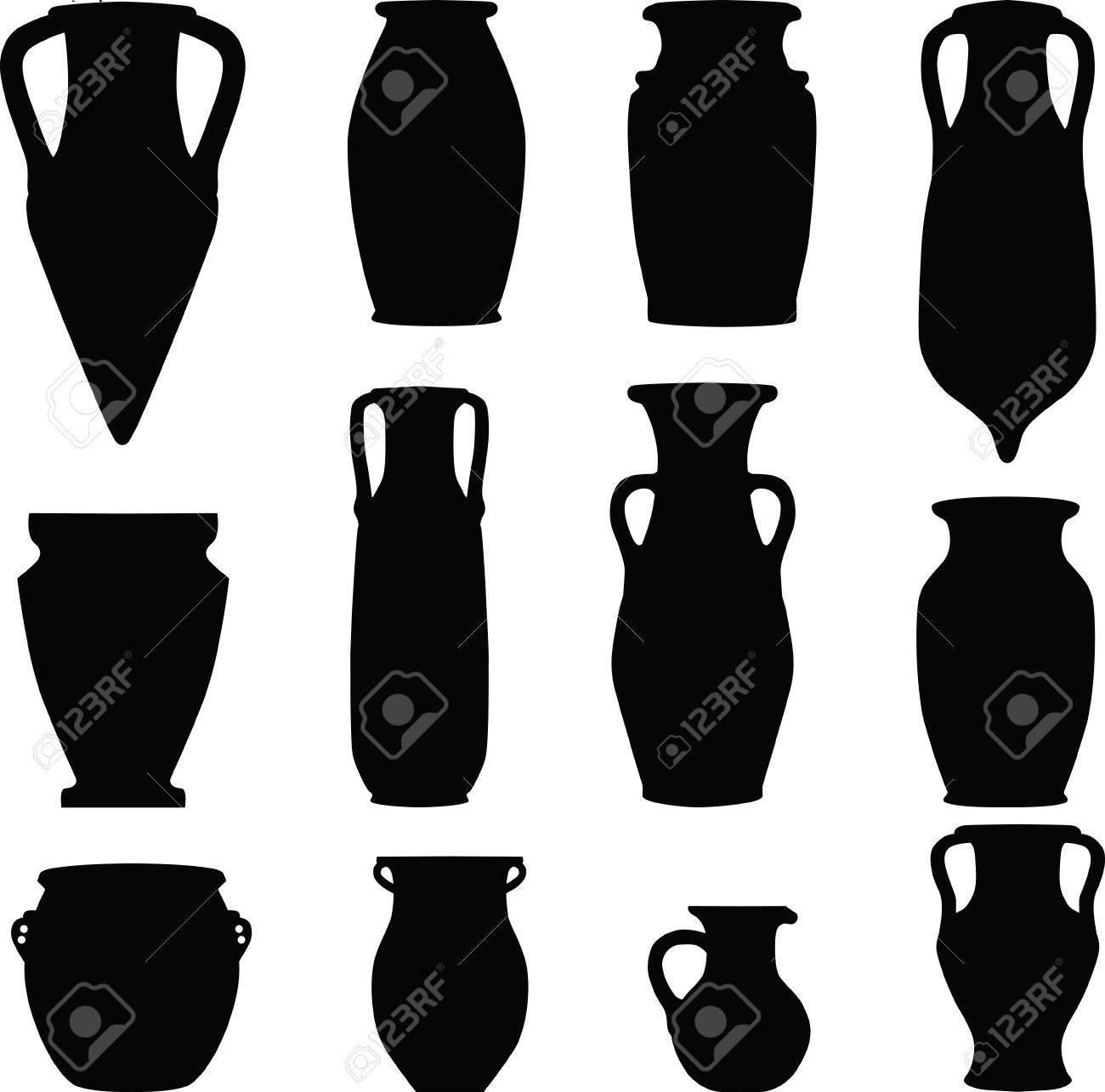 ceramics, archeology, silhouette Stock Vector - 6459291