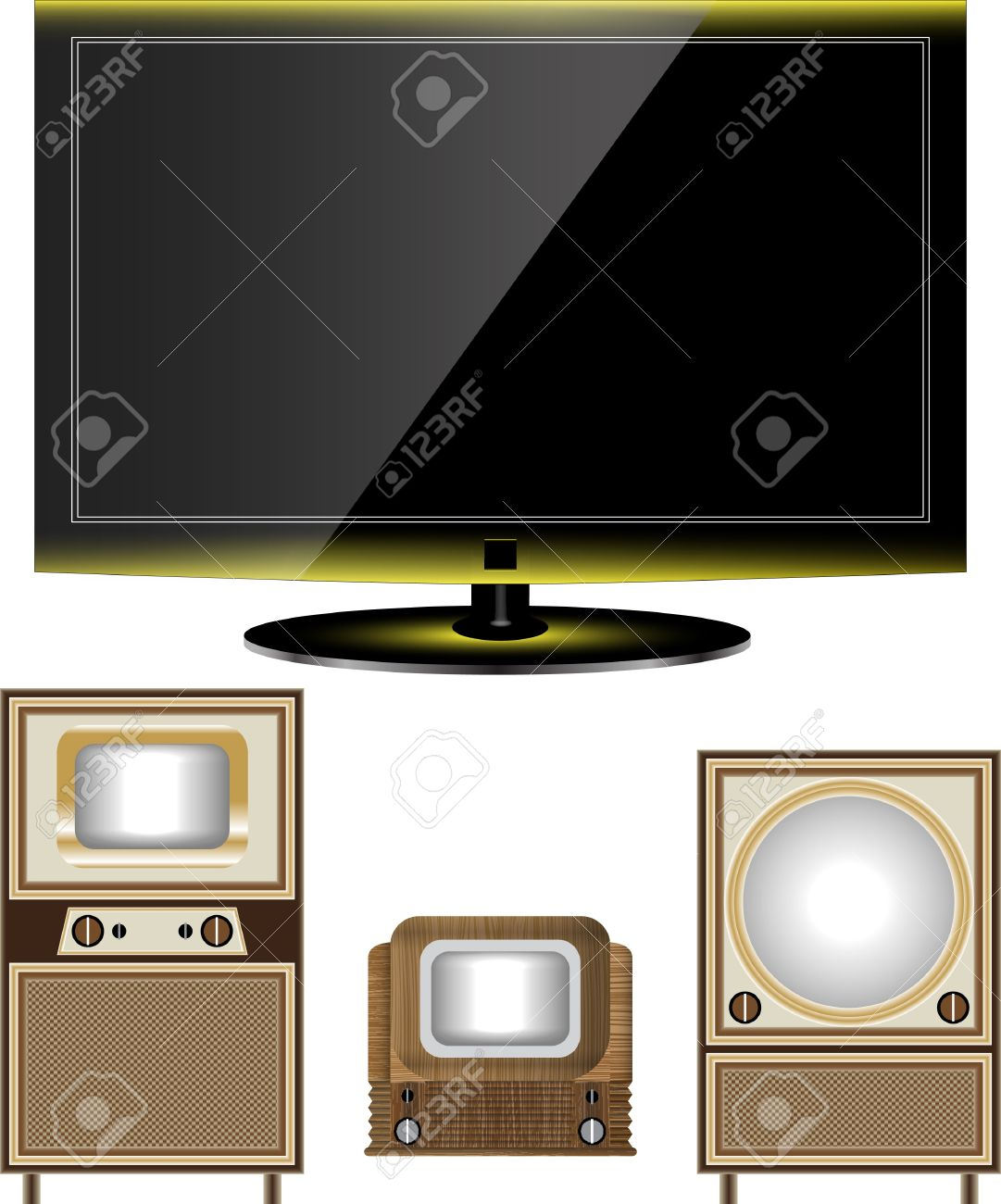 tv old and new Stock Vector - 10437639