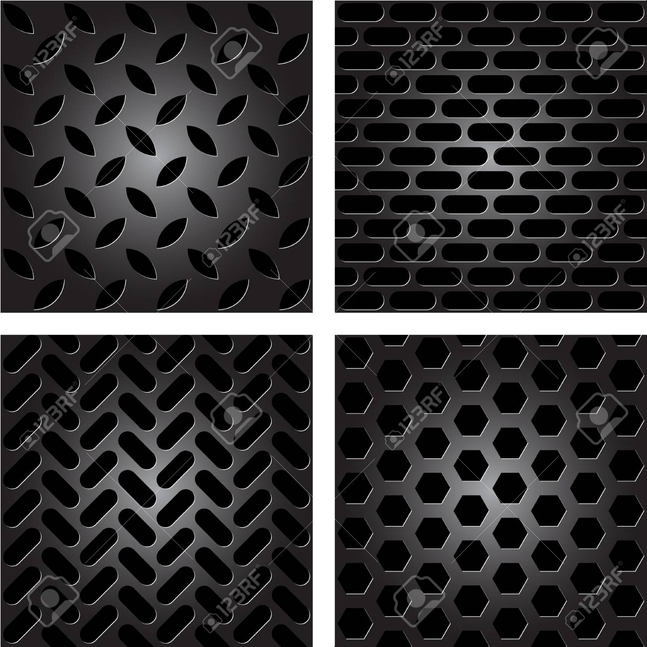 metal patterns Stock Vector - 11662906