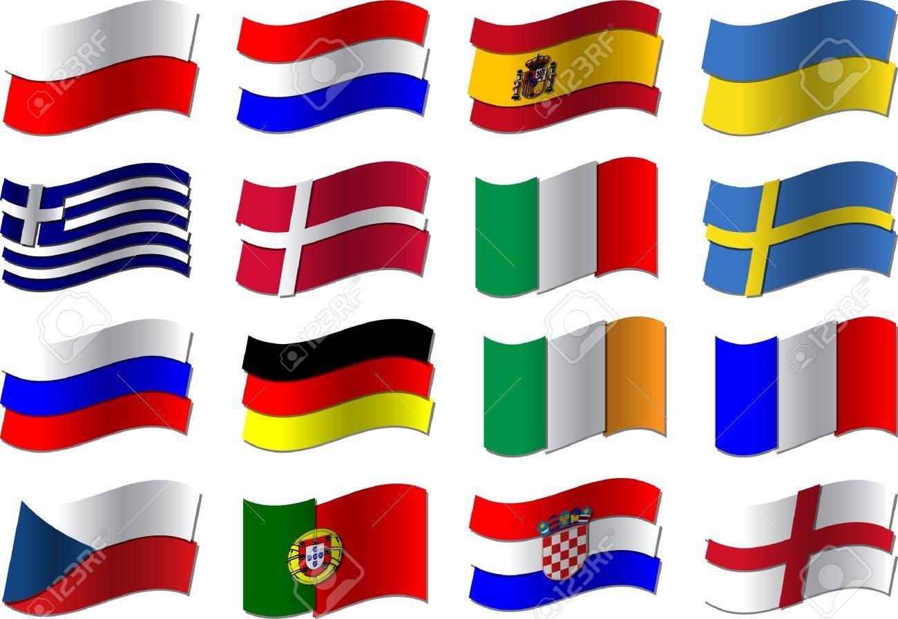 Euro 2012 football flags Stock Vector - 12177607