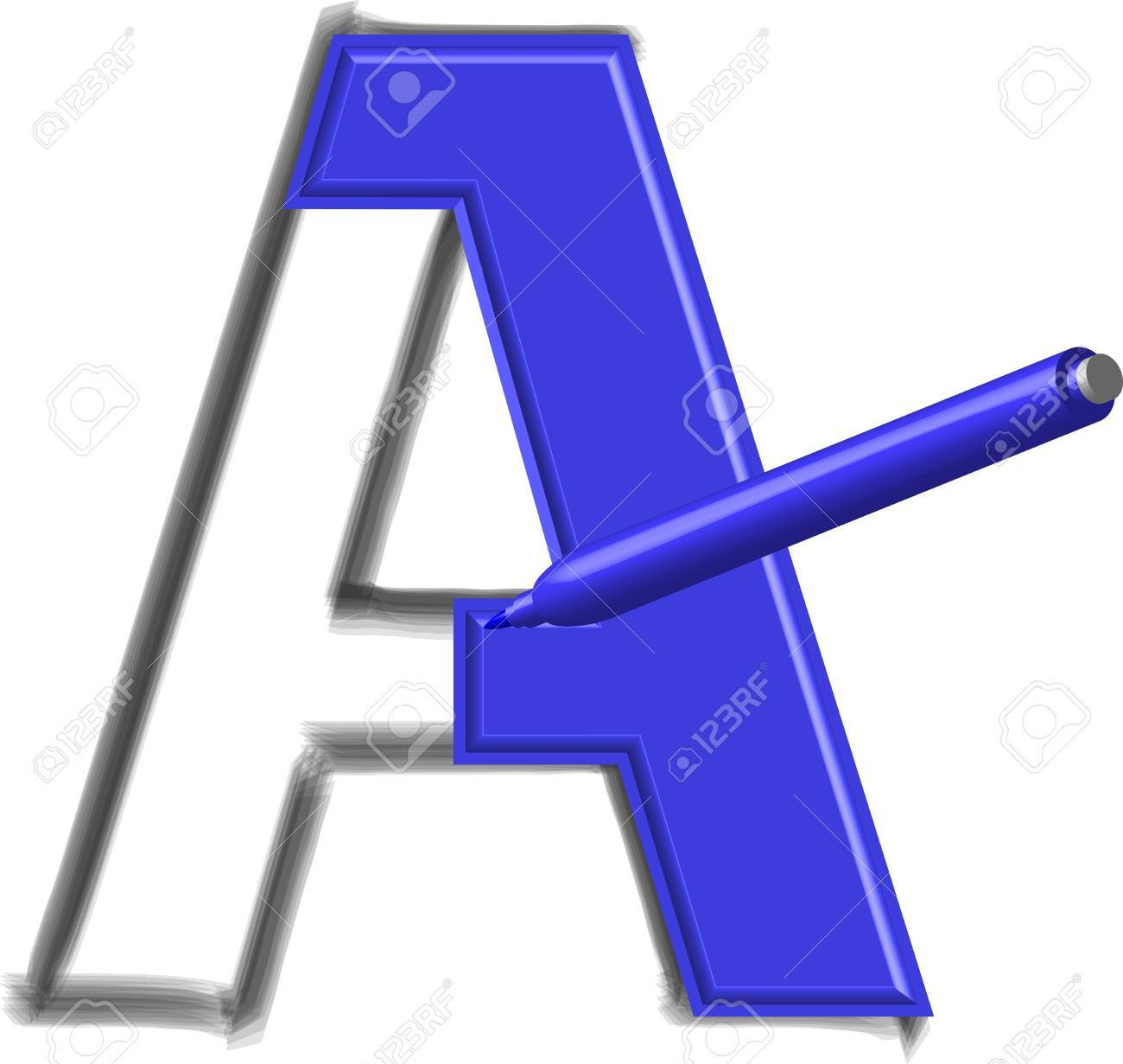 drawing letters Stock Vector - 16271674