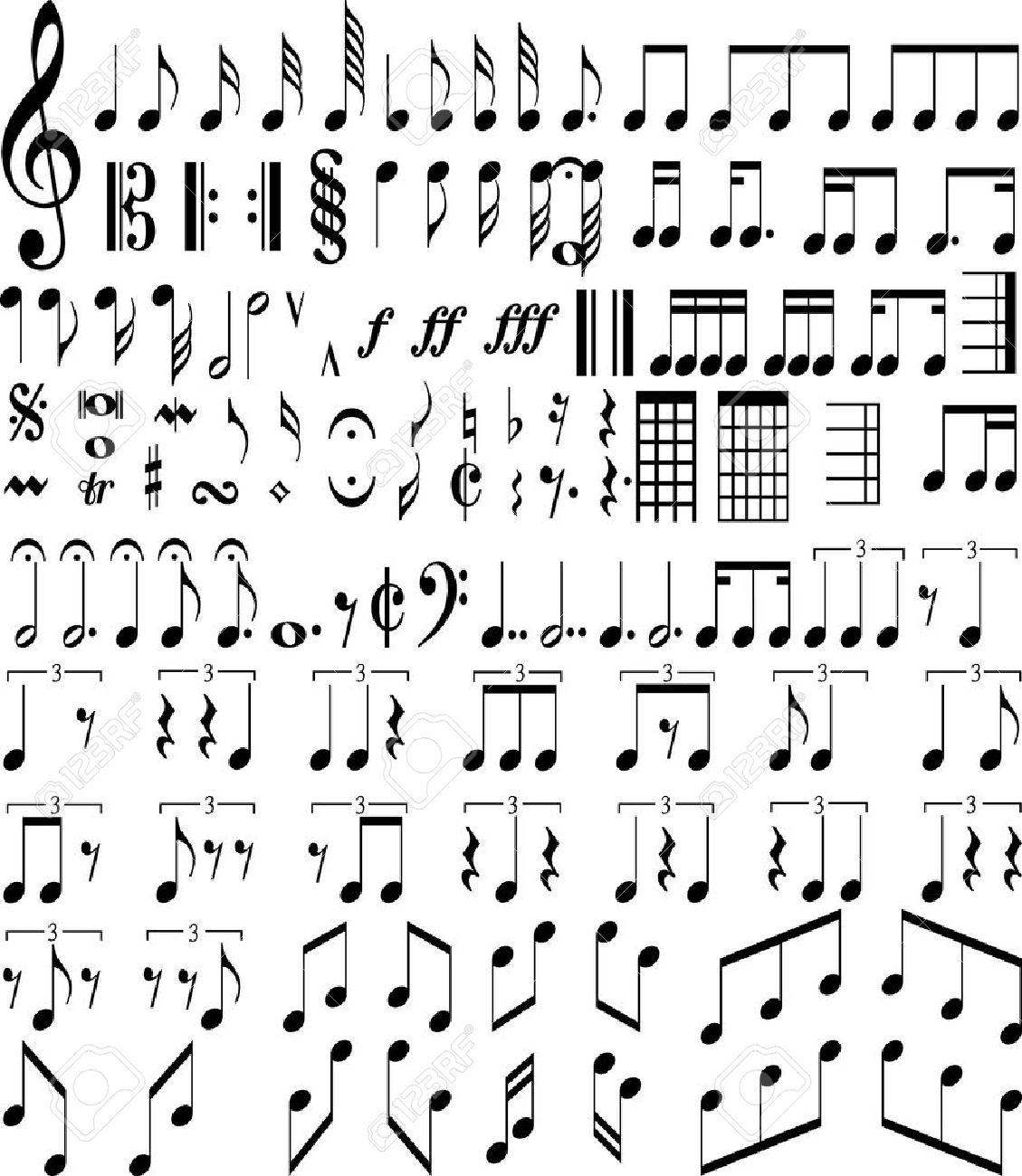 Music symbols royalty free cliparts vectors and stock music symbols stock vector 18779948 buycottarizona
