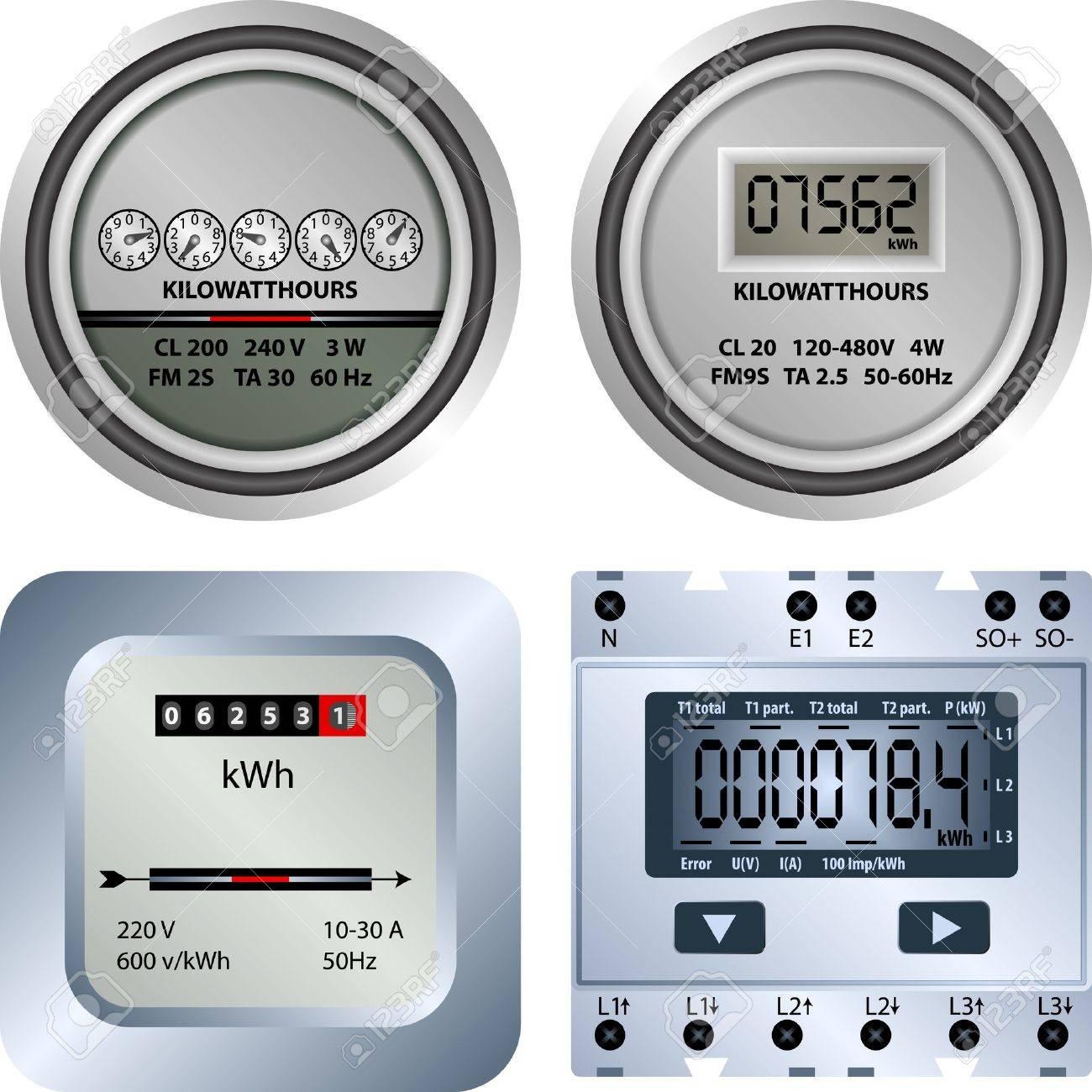 electric meter Stock Vector - 20412651