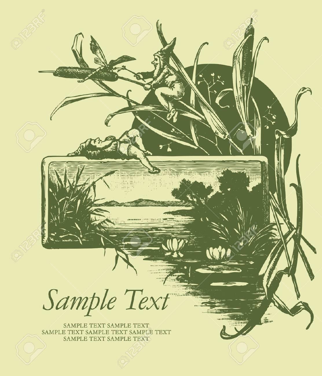 vintage card Stock Vector - 7285424