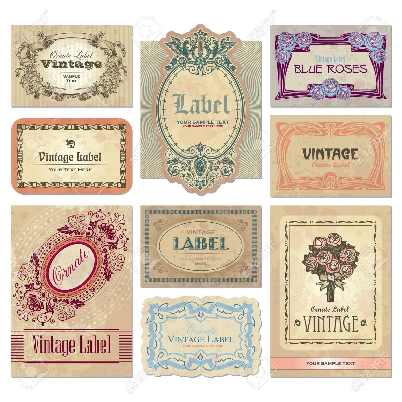 vintage labels set Stock Vector - 7350486