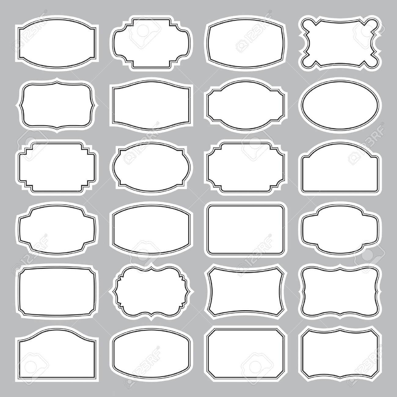 24 Blank Labels Set Royalty Free Cliparts Vectors And – Blank Label Template