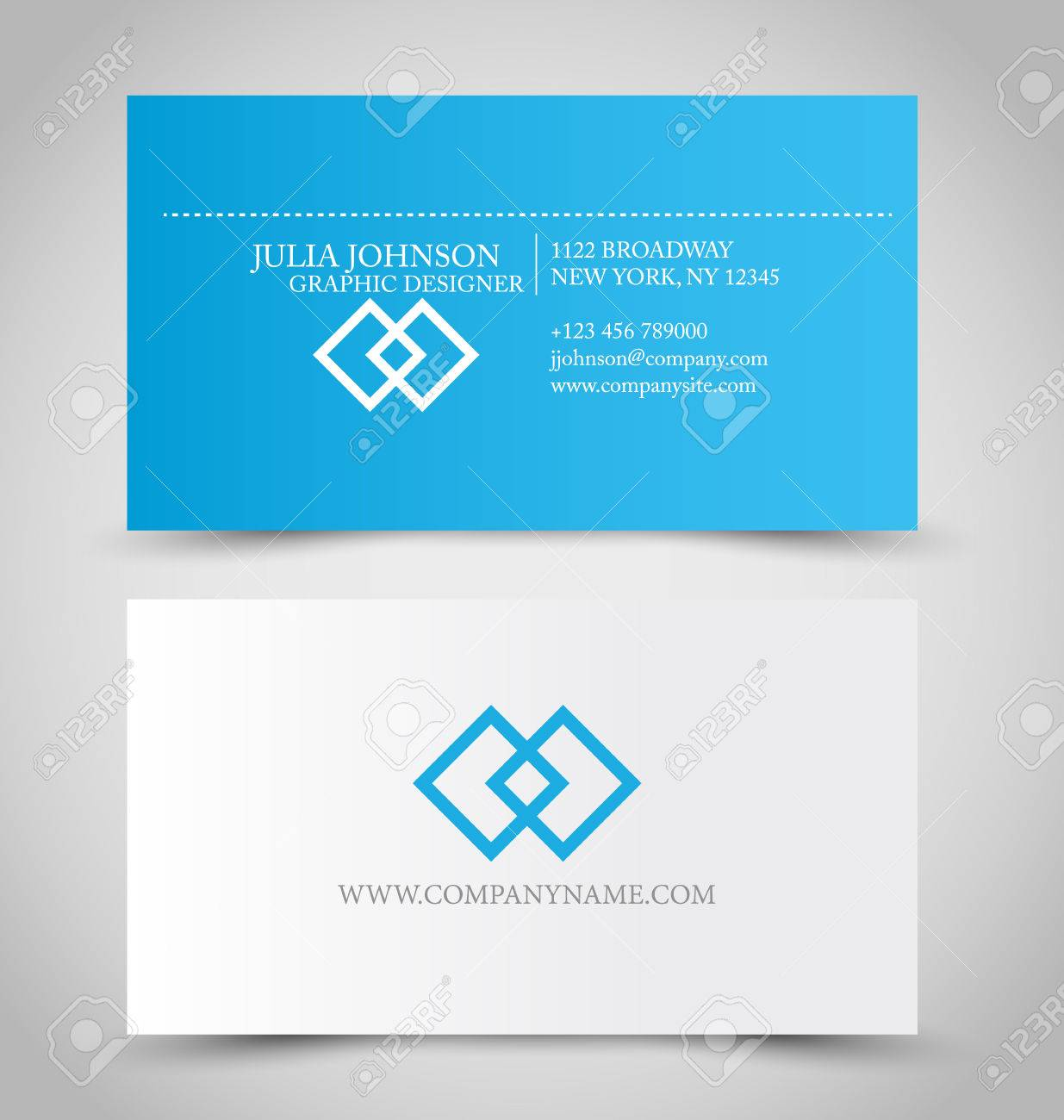 Business card blue gallery free business cards business card set template for business identity corporate style business card set template for business identity magicingreecefo Gallery