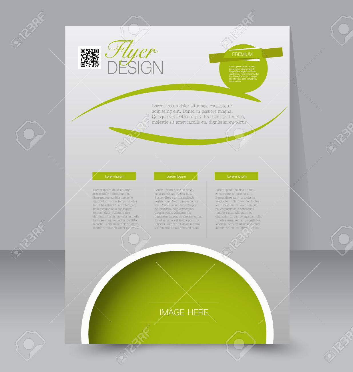 Flyer Template Business Brochure Editable A4 Poster For Design – Green Flyer Template