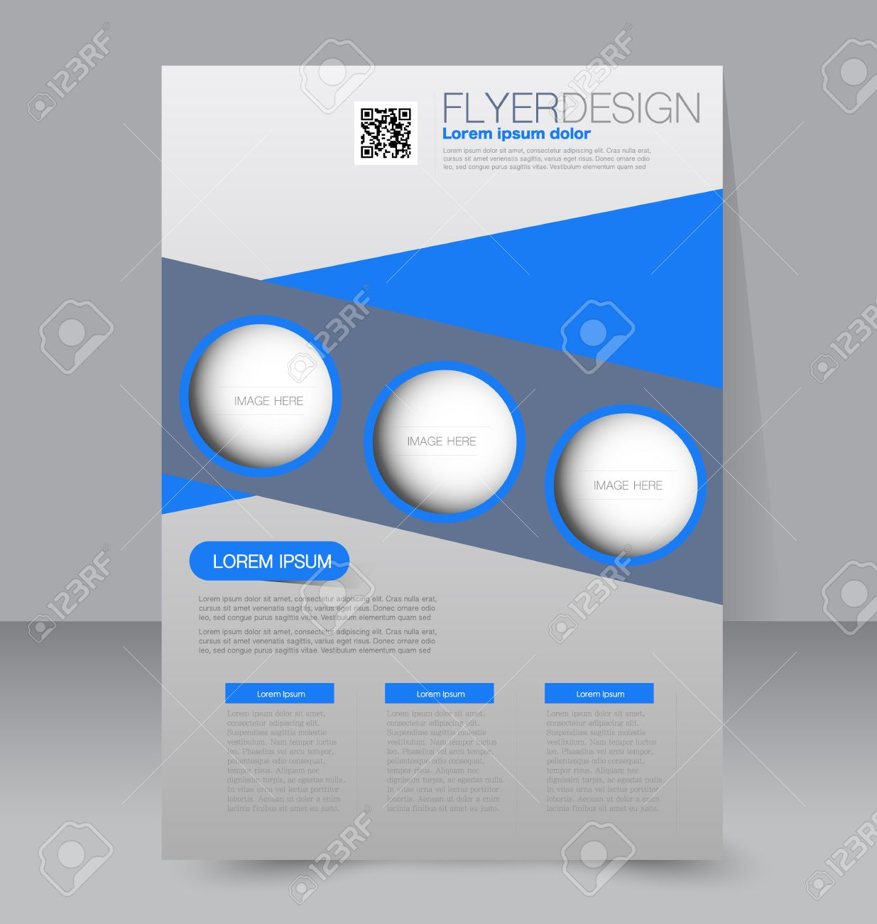 Flyer Template. Business Brochure. Editable A4 Poster For Design ...