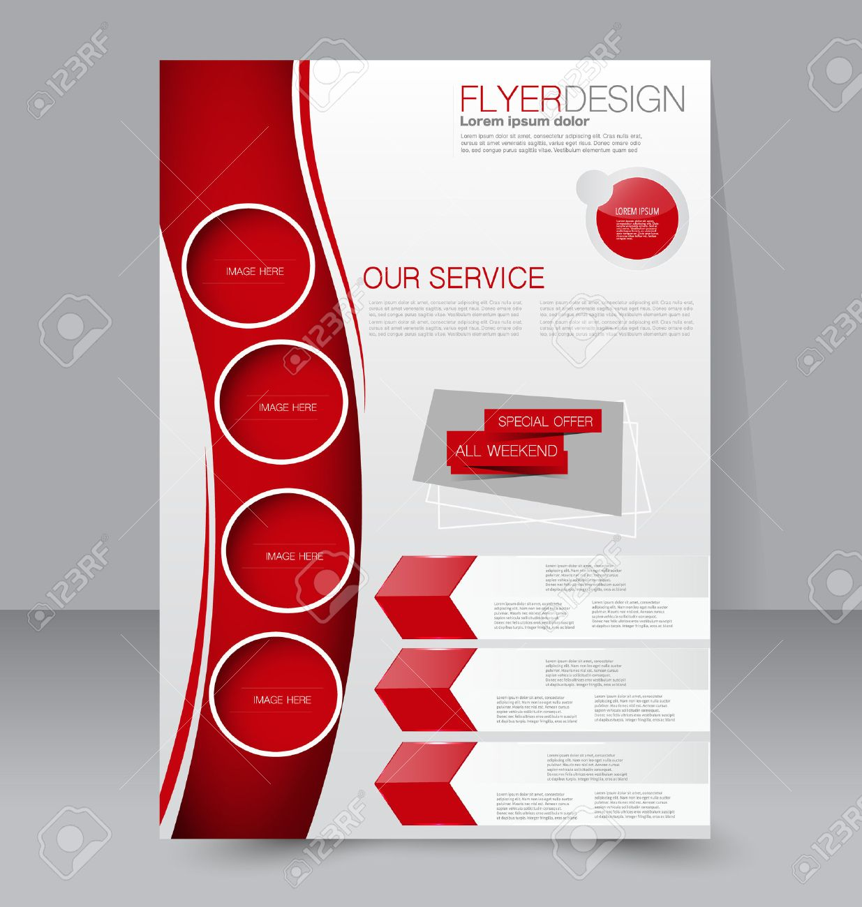 Flyer Template Business Brochure Editable A Poster For Design - Brochure flyer templates
