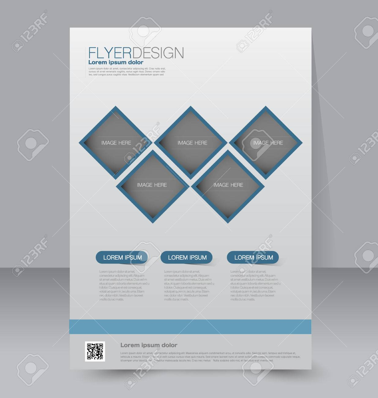 Flyer Template Business Brochure Editable A4 Poster For Design Education Presentation