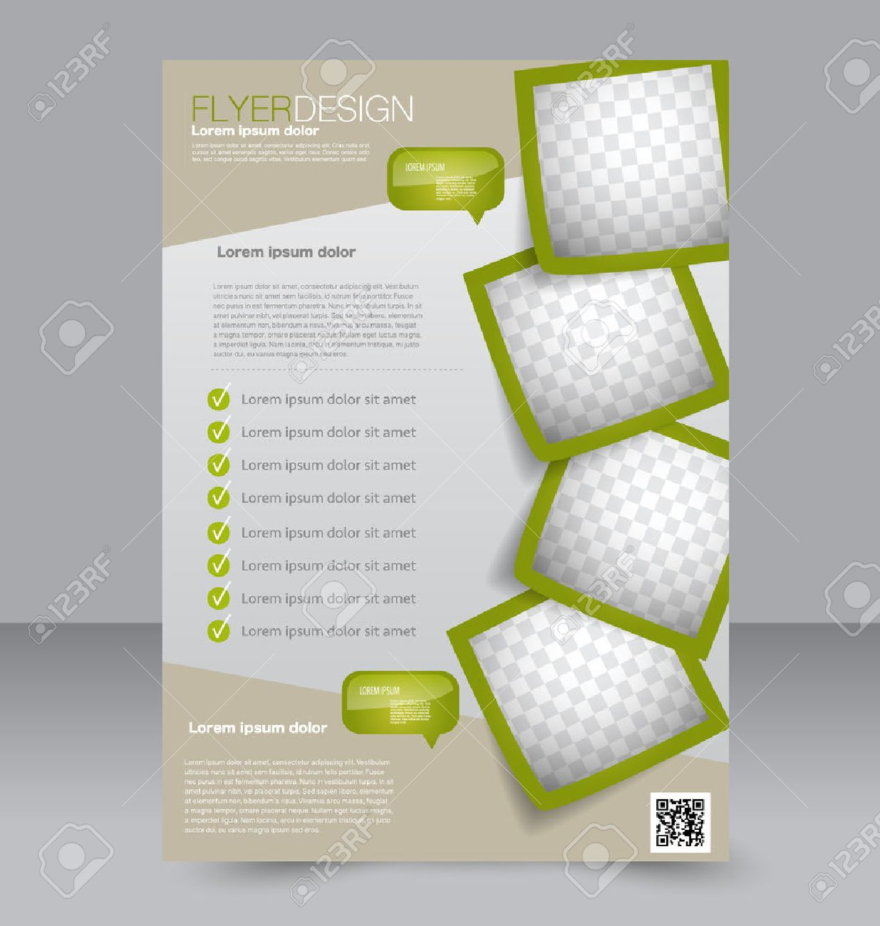 Flyer Template Brochure Design Editable A Poster For Business - Editable brochure templates