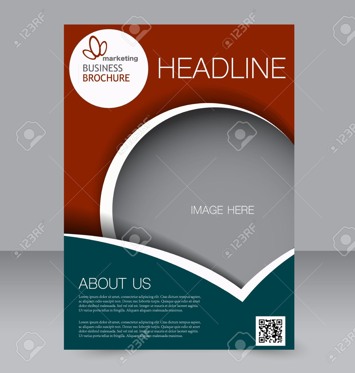 Flyer Template Brochure Design Editable A4 Poster For Business Education Presentation