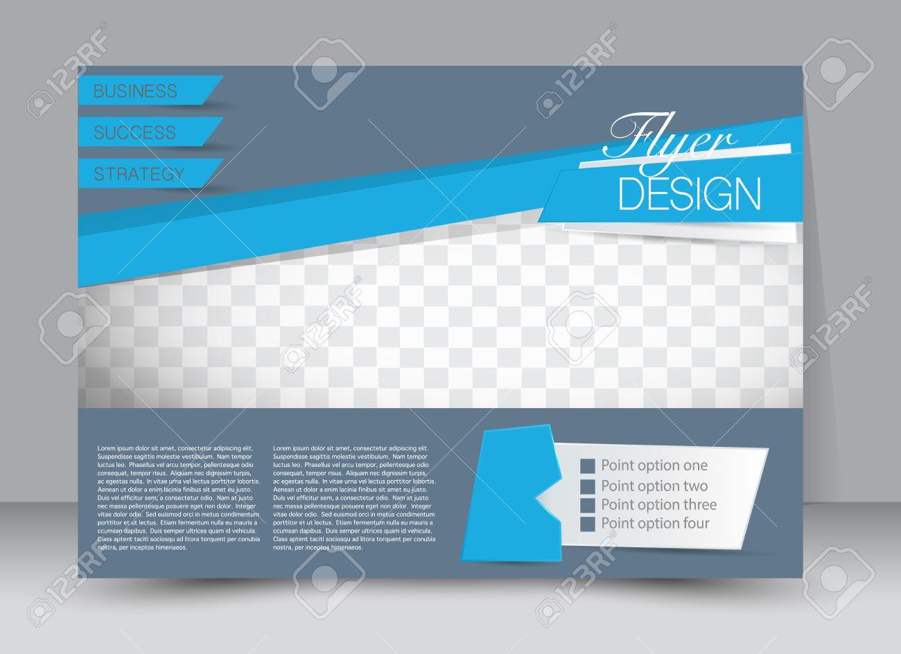 Magazine Cover Templates   Flyer Brochure Magazine Cover Template Design Landscape