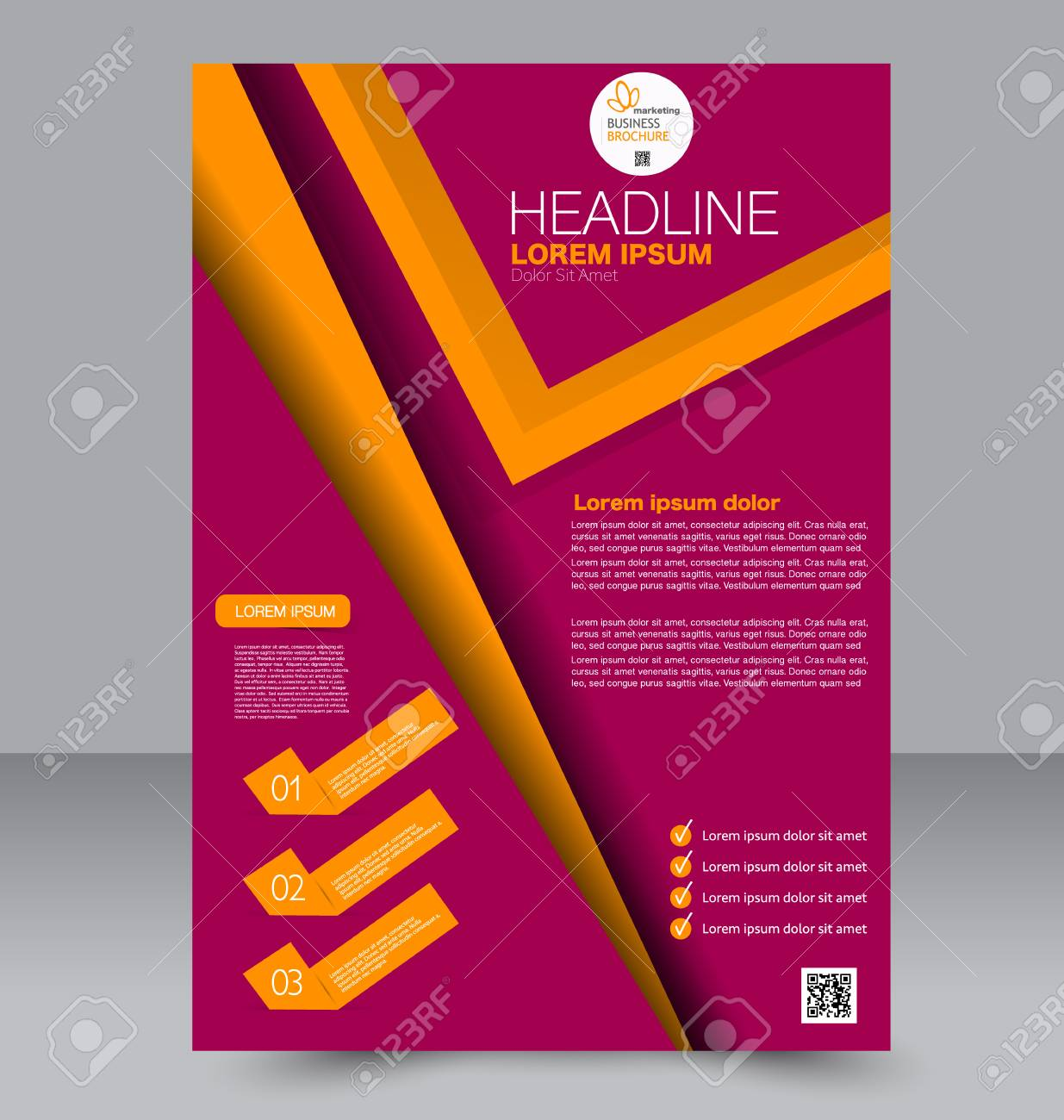 Zusammenfassung Flyer Design Hintergrund Broschüre Vorlage Kann