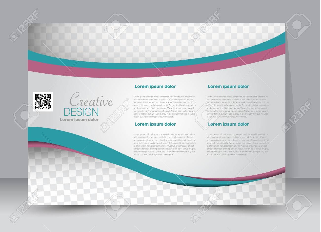 Folleto, Folleto, Orientación De Paisaje De Diseño De Plantilla De ...