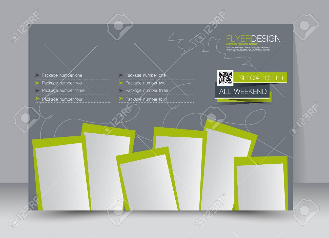 Folleto, Folleto, Revista Cubrir La Plantilla Orientación Diseño Del ...