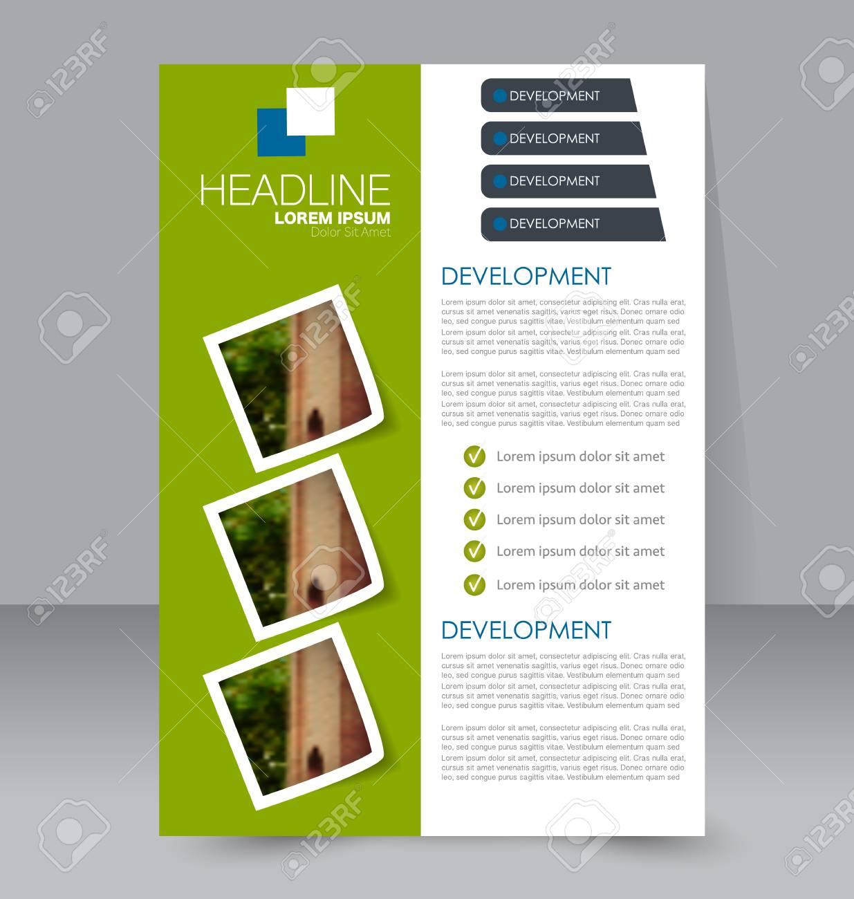 Resume Arriere Plan De Conception De Flyer Modele De Brochure Pour