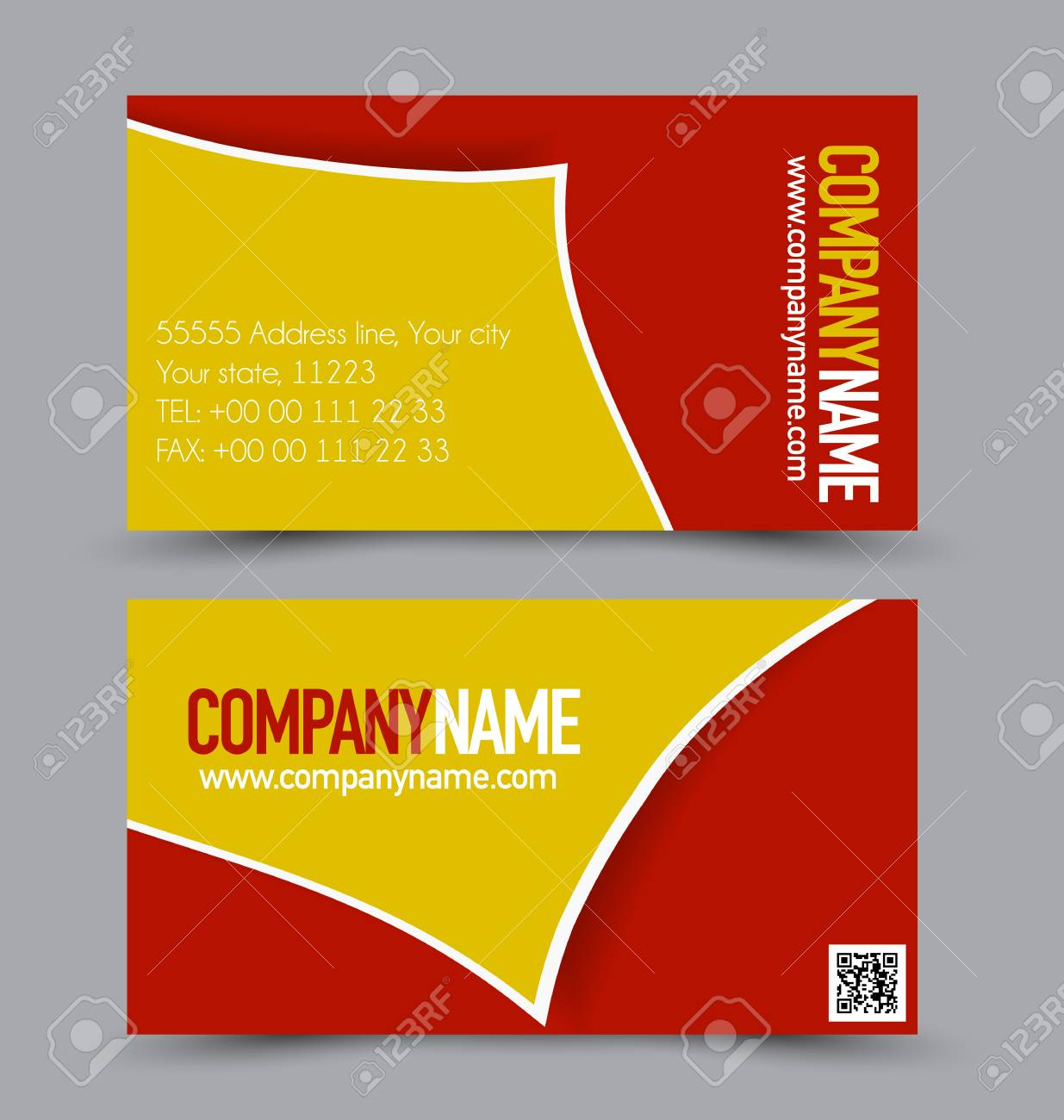diseño de tarjeta de presentación de plantilla para el estilo
