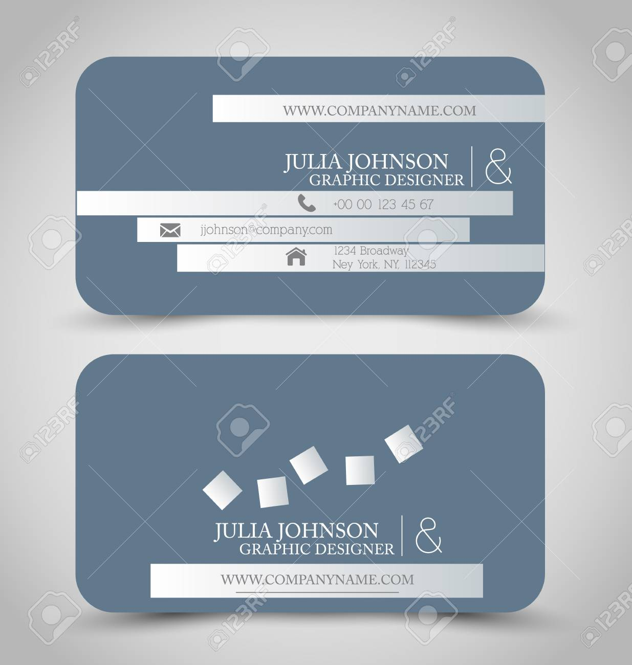Business card set template for business identity corporate style business card set template for business identity corporate style grey color vector illustration colourmoves