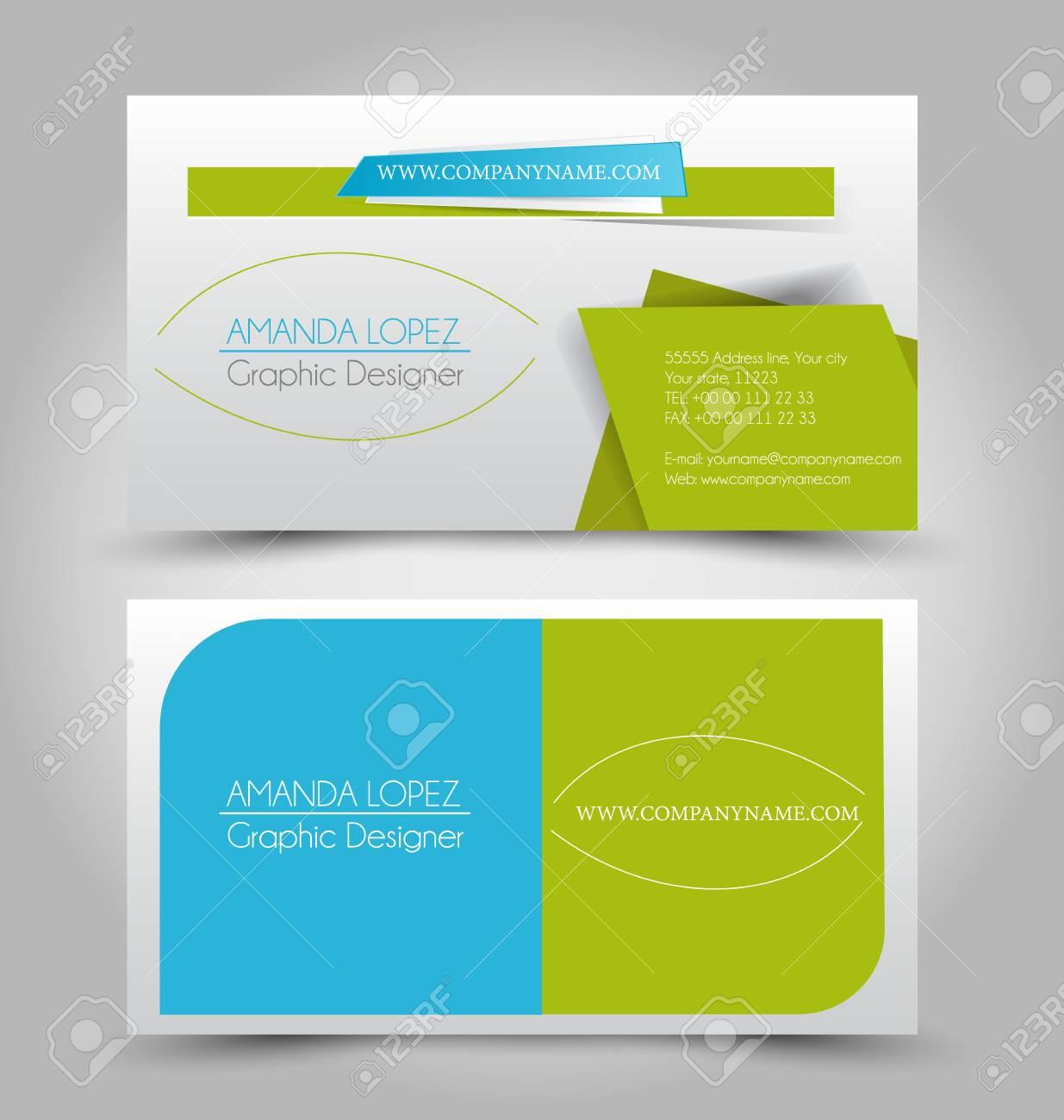 Carte De Visite Tabli Modle Pour Identit Dentreprise Style L