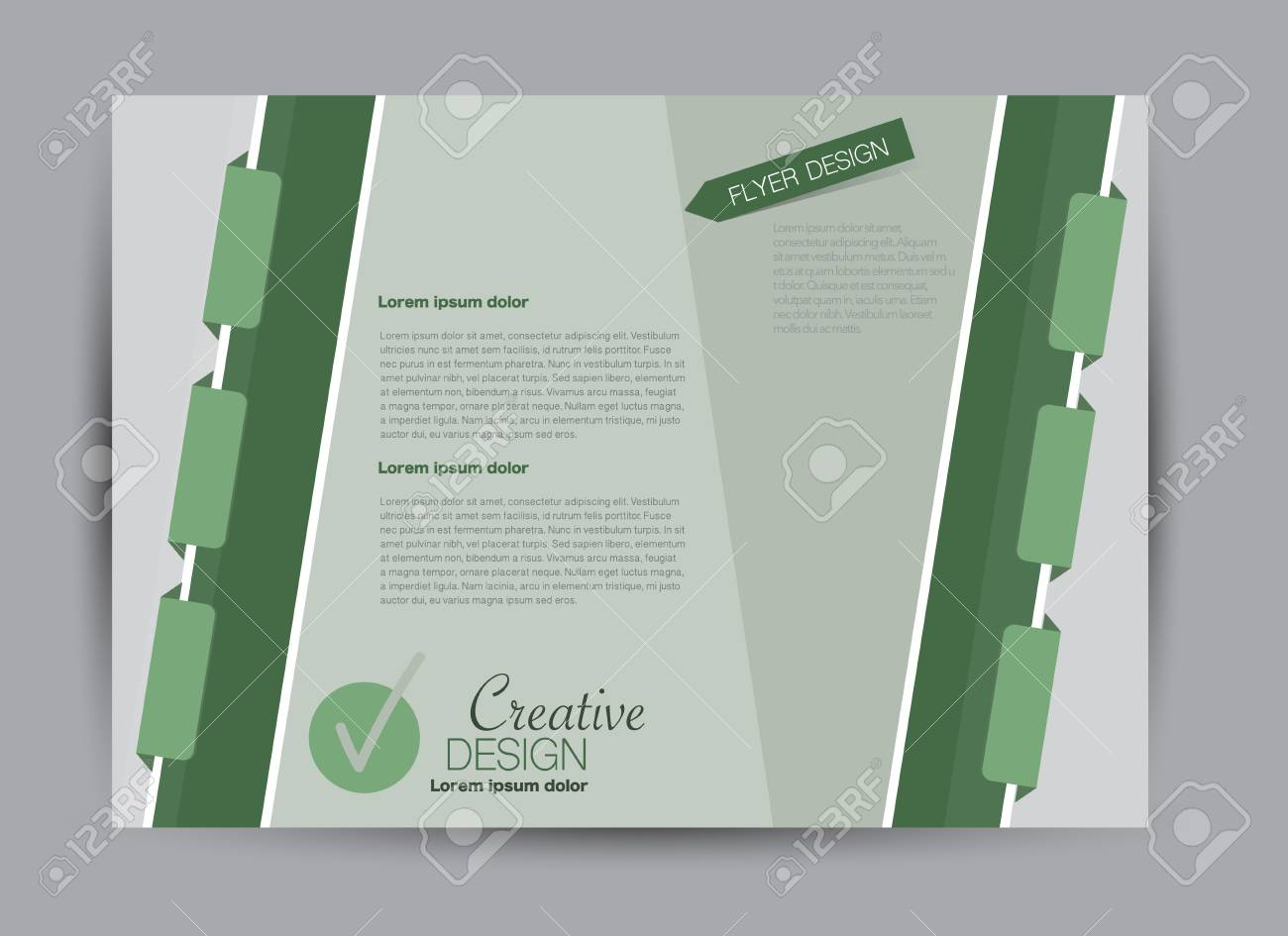 Flyer, Brochure, Billboard Template Design Landscape Orientation ...
