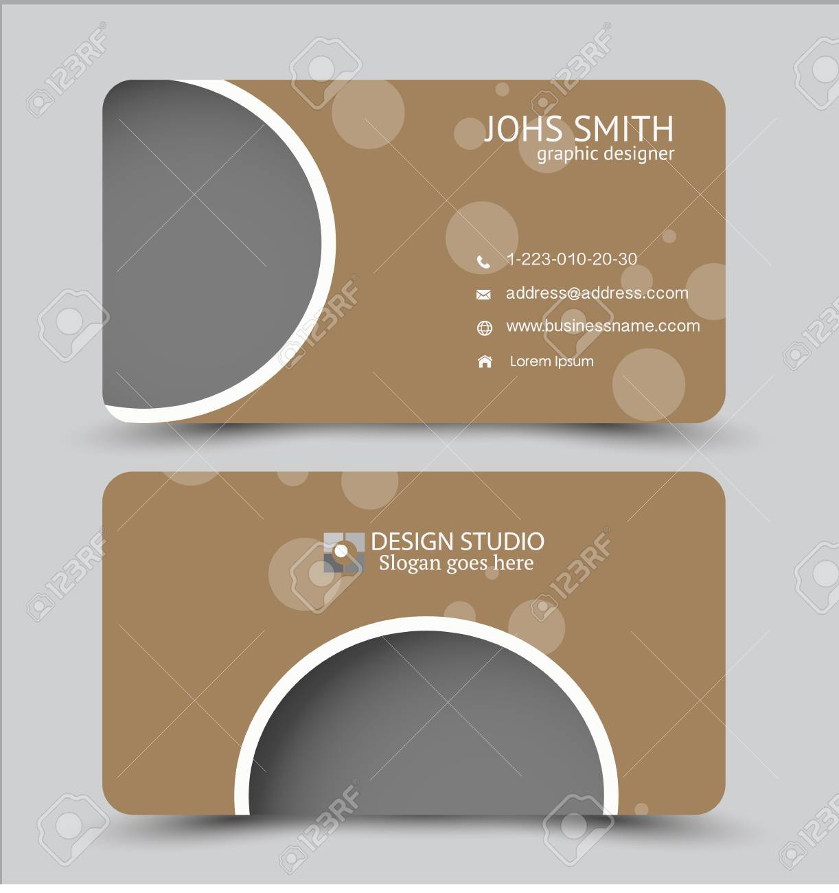 Business card design set template for company corporate style business card design set template for company corporate style vector illustration brown color colourmoves